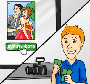Клиент оплачивает понравившиеся ему фото, а вы получаете свои деньги.